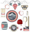Stylized wine emblems for your designs Royalty Free Stock Photos