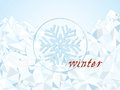 Stylized winter landscape vector illustrator Royalty Free Stock Photos