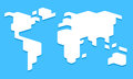 Stylized world map Royalty Free Stock Photo