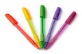 Stylos de boule multicolores Photos stock