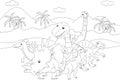 Styracosaurus, spinosaurus, tyrannosaur, stegosaurus and parasau Royalty Free Stock Photo