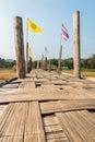 Su tong pe bridge beautiful bamboo in mae hong son province thailand Royalty Free Stock Photos