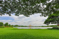 Suanluangrama green park in the city of bangkok in thailand Royalty Free Stock Photography