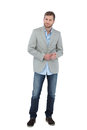 Suave man in a blazer Royalty Free Stock Photo