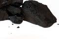 Sub bituminous coal isolated on white pile of a background Royalty Free Stock Photography