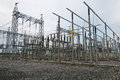 Sub station high voltage for tranfrom electricity Stock Photos