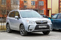 Subaru forester novyy urengoy russia june motor car at the city street Stock Images