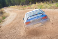 Subaru rally car Royalty Free Stock Photography