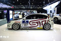 Subaru sport model dubai uae november on display at the dubai motor show uae Royalty Free Stock Photo