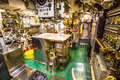 Submarine engine room Royalty Free Stock Photo