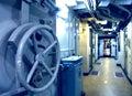 Submarine interior Royalty Free Stock Photo