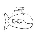 Submarine vehicle icon
