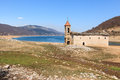 Submerged Church of Mavrovo Lake, Macedonia Royalty Free Stock Photo
