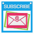 Subscribe Colorful Squares Inside