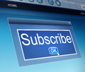 Subscribe concept illustration depicting a screen capture with a Royalty Free Stock Photo