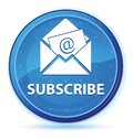 Subscribe (newsletter email icon) midnight blue prime round button Royalty Free Stock Photo