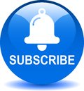 Subscribe now icon web button blue Royalty Free Stock Photo