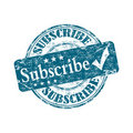 Subscribe rubber stamp Royalty Free Stock Photography
