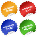 Subscription stickers Royalty Free Stock Photography