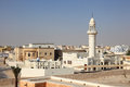 Suburb in doha qatar mosque residential area of middle east Stock Photos