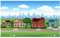 Suburb house background Royalty Free Stock Photos