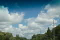 Suburb sky beautiful in a michigan Royalty Free Stock Image