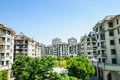Suburban area apartment building in Royalty Free Stock Photo