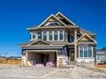 Suburban estate home under construction