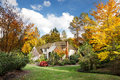 Suburban home in fall Royalty Free Stock Image