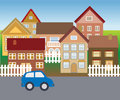 Suburban homes in quiet neighborhood Royalty Free Stock Photo
