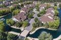 Suburban Neighborhood Creek Aerial Royalty Free Stock Photo