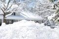 Suburban snow pile Royalty Free Stock Photo