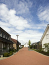 Suburban street in Germany Royalty Free Stock Photo