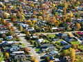 Suburbia in Fall Royalty Free Stock Image