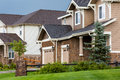 Suburbia typical american suburban community with model homes Stock Photography