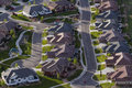 Suburbia typical american suburban development Royalty Free Stock Photography
