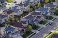 Suburbia typical american suburban development Royalty Free Stock Photo