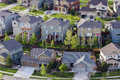 Suburbia typical american suburban development Royalty Free Stock Images