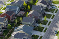 Suburbia typical american suburban development Royalty Free Stock Image