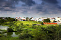 Suburbs of Hyderabad india Royalty Free Stock Photography