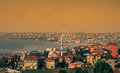 Suburbs of istanbul homes houses and one many mosques in the turkey Stock Photo