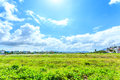 Suburbs in vietnam and blue sky Royalty Free Stock Image