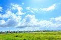 Suburbs in vietnam under blue sky Stock Image