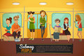Subway Background Illustration