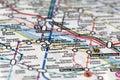 Subway map - Paris Royalty Free Stock Photo