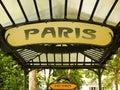 Subway paris metro in paris to full size format Stock Photography