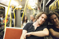 Subway passanger portrait of handsome man Stock Images