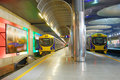 Subway platform Royalty Free Stock Photo