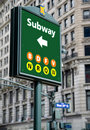 Subway Sign Royalty Free Stock Images