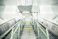 Subway stairs and escalator Royalty Free Stock Photo